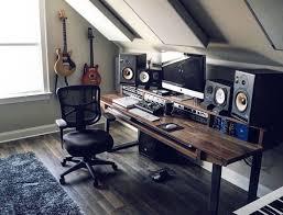 Home Studio Decor Custom Made Studio Desk For Audio Video Production W Keyboard