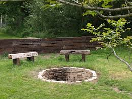 Rustic Firepit Rustic Pit Benches Design And Ideas