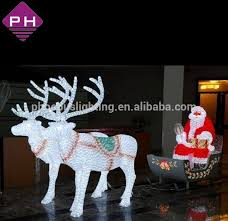Outdoor Sleigh Decoration Shopping Mall Decoration Christmas Decoration Outdoor Santa In