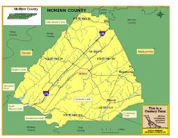 Tennessee Highway Map by Mcminn County Tennessee Century Farms