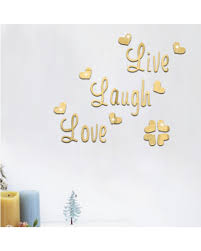 mirror decals home decor sweet deal on wall sticker live laugh love quote vinyl wall