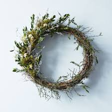 spring branch wreath on food52