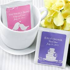 personalized favors personalized silhouette tea bag favor personalized wedding tea