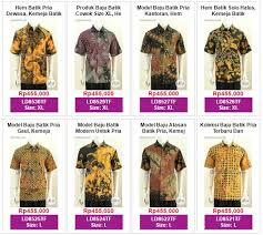 Baju Batik Batik baju batik 2018 jual baju batik pria dan wanita