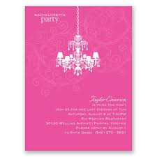 party invitation chandelier swirl bachelorette party invitation invitations by