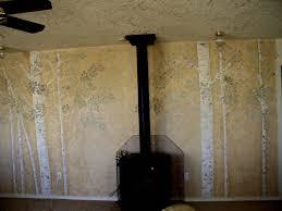 wall decor ideas walls stencils plaster stencils painting aspen tree stencil done