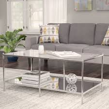 mirror tables for living room mirrored coffee tables you ll love