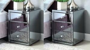 Mirrored Glass Nightstand Hayworth Mirrored Dresser Silver Hayworth Mirrored Nightstand