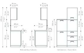 standard kitchen cabinet sizes chart in cm kitchen cabinet size in cm and description kitchen