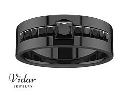 Black Diamond Wedding Ring Sets by Men U0027s Princess Black Diamond Black Gold Wedding Ring Vidar