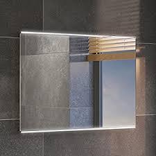 Bathroom Mirror With Lighting Ibathuk 500 X 700 Mm Modern Illuminated Led Bathroom Mirror Light