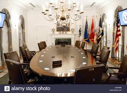 the cabinet room in the white house washington dc stock photo
