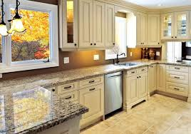 Kitchen Cabinets Gta Outstanding White Kitchen Cabinets With Tan Quartz Countertops