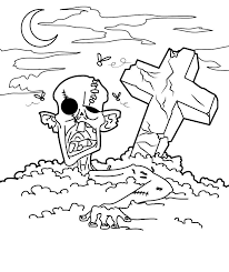 zombie free halloween coloring pages free hallowen coloring