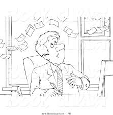 clip art of a black and white coloring page of a sketched