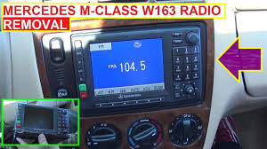 radio removal and replacement on mercedes w163 ml320 ml430 ml230