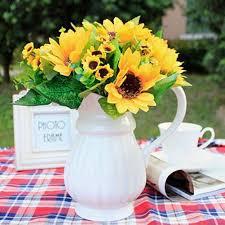 aliexpress com buy 1 bouquet lifelike artificial sunflower