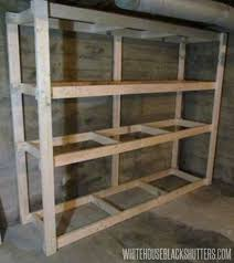 Simple Wooden Shelf Designs by Best 25 Basement Storage Shelves Ideas On Pinterest Diy Storage