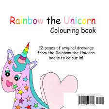 rainbow unicorn colouring book lauren vessey thomas