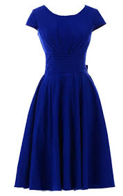 dress blue blue cocktail gown royal prom formal dress dorris wedding