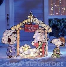 Lighted Nativity Scene Outdoor Charlie Brown Peanuts Collection On Ebay