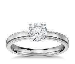 milgrain engagement ring milgrain comfort fit solitaire engagement ring in platinum 2 5mm