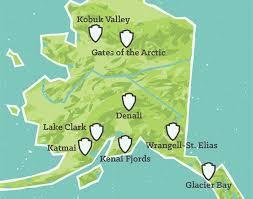 Alaska national parks images Us national parks map 11x14 print best maps ever jpg