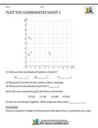 free geometry worksheets plot the coordinates 4 geometria