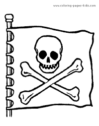 yarr matey cool pirate flag color coloring pages
