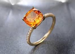 citrine engagement rings cushion cut 1 65ct citrine ring 14k yellow gold citrine engagement