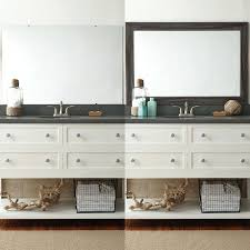 Frame Bathroom Mirror Kit Mirror Frame Kits For Bathroom Mirrors Best Before And Afters