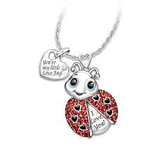 granddaughter jewelry granddaughter youre as a bug engraved ladybug pendant necklace