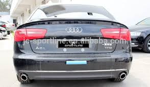 audi a6 spoiler high quality pu a6 rear spoiler 3pcs set spoilers for audi a6 c7