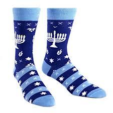 chanukah socks sock it to me men s crew socks hanukkah menorah
