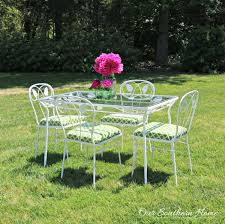 Outdoor Furniture Finish by Patio Furniture Makeover Our Southern Home