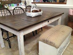 Refurbished Table With Faux Finish Of Barnwood Using Van Gogh - Distressed kitchen tables