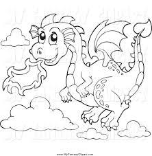 black and white dragon clipart clipartxtras