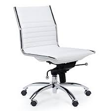 white desk chair no wheels modern white office chair malcolm armless z gallerie desk