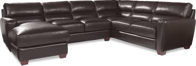 Leather Sectional Sofa Chaise Three Piece Contemporary Leather Sectional Sofa With Laf Chaise By
