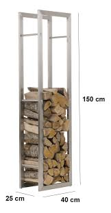 firewood rack keri stainless steel log basket stand holder fire