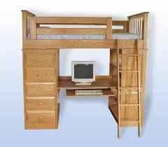 Amish Bookshelves by Amish Made Youth Loft Storage Bunk Beds