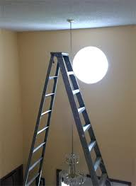 How To Change A Ceiling Light How To Replace A Light Fixture In A Two Story Entryway Spilling