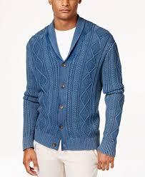 hilfiger sweater mens hilfiger s nathaniel cable knit shawl collar fisherman