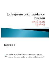 bureau entrepreneur entrepreneurial guidance bureau