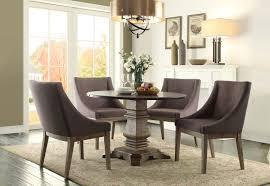 homelegance anna claire round dining set s3 driftwood zinc d5428
