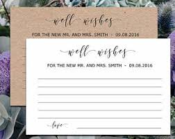 wedding well wishes cards bridal wishes cards etsy
