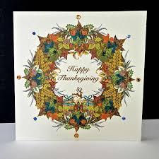 happy thanksgiving garland card decorque cards