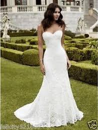 Ivory Wedding Dresses New Mermaid Sweetheart White Ivory Lace Wedding Dress Bridal Gown