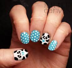 the little canvas panda nail art nails pinterest panda nail
