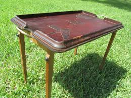 butler tray vintage tray solid wood tray table folding table mid